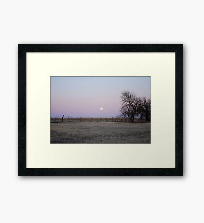 Moonrise in Kansas Framed Print
