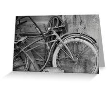 Vintage Bikes Greeting Card
