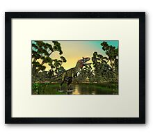 Cryolophosaurus Framed Print