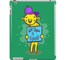 Will Draw For Food iPad Case/Skin
