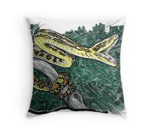 Striking Carpet Python Throw Pillow