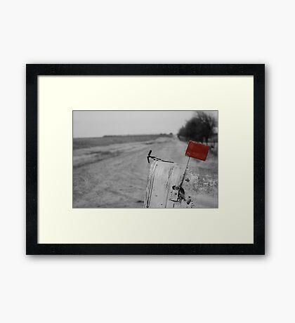 Rural Route Framed Print