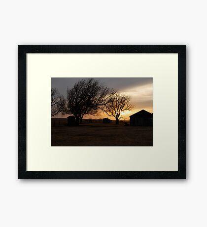 Kansas Sunset Framed Print
