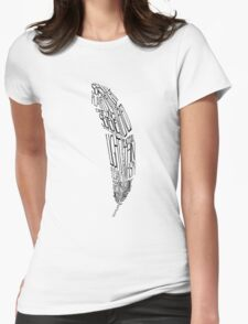 The Quill is mightier then the sword Womens Fitted T-Shirt