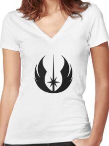 Jedi Symbol Women's Fitted V-Neck T-Shirt