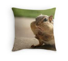 """Who me?  I didn't take the peanuts!"" Throw Pillow"