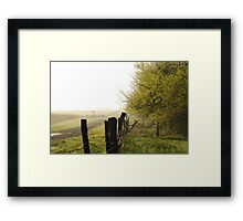 Misty Country Morning in Kansas Framed Print