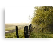 Misty Country Morning in Kansas Canvas Print
