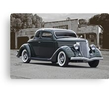 1936 Ford Deluxe Coupe Canvas Print
