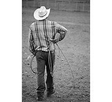 Cowboy Waits Photographic Print
