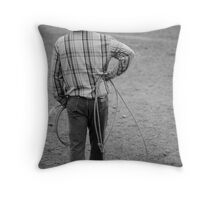 Cowboy Waits Throw Pillow