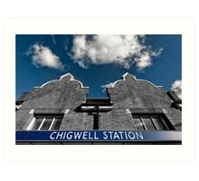 Chigwell Tube Station Art Print