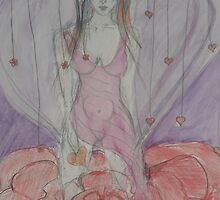 Goddess of Flowers & Hearts by Anthea  Slade