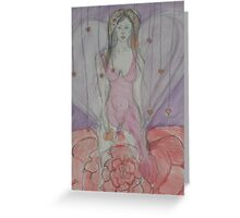 Goddess of Flowers & Hearts Greeting Card