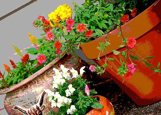 Flower Pots by Suz Garten