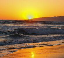 sunsets on the beach in california by Gavistaloch