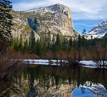 Mt. Watkins at Mirror Lake by Leroy Laverman