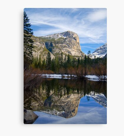 Mt. Watkins at Mirror Lake Canvas Print