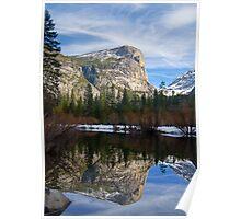 Mt. Watkins at Mirror Lake Poster
