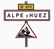 Alpe D'Huez Cycling Gradient Road Signs  T-Shirt