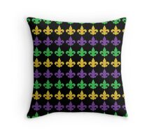 Mardi Gras Fleur de lis Throw Pillow