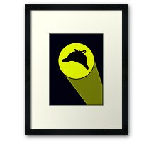 The Sherlock Signal (Big, with projection shine) Framed Print