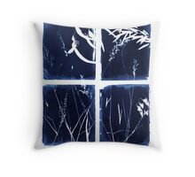 Felton Flora Cyanotype 2 Throw Pillow