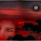 Red Sunset eyes. by intensual