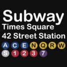 NY Times Square Subway Sign by mobii