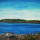 """View of Hog island, Cappa"" - Oil Painting by Avril Brand"