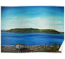 """""""View of Hog island, Cappa"""" - Oil Painting Poster"""