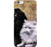 Persian Cats Painting iPhone Case/Skin