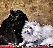 Persian Cats Painting by goldenmenagerie