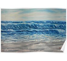 """Waves"" - Oil Painting Poster"