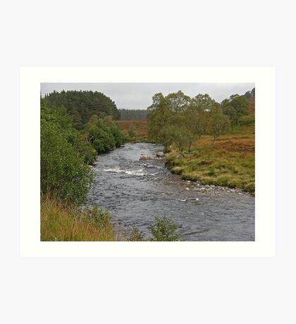 River Pattack - Ardverikie Estate Art Print