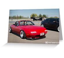 Mazda Miata Greeting Card