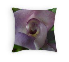Snail Flower Throw Pillow