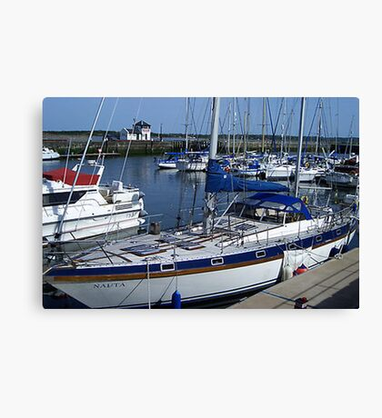 Caernarfon Harbour - North Wales Canvas Print
