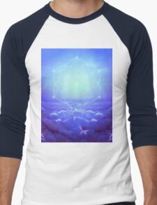 All but the Brightest Star (Sirius Star Geometric) Men's Baseball ¾ T-Shirt