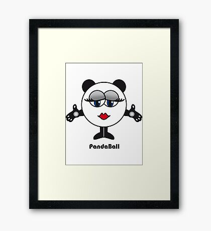 Panda Ball Framed Print