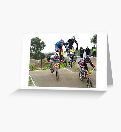 the race is on  Greeting Card
