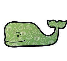 vineyard vines green christmas tree whale by quinc3y