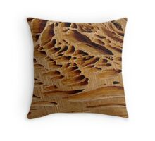 Naturally Grooved Throw Pillow