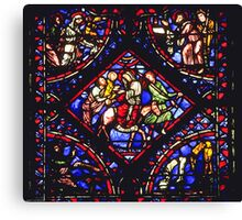 1984 Troyes Cathedral Window Flight into Egypt Canvas Print