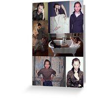 Tom Hiddleston 1883 Photoshoot Collage Greeting Card