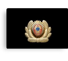 USSR officer cap badge Canvas Print