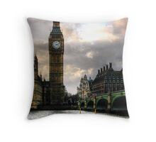 Big Ben & Westminster Bridge Throw Pillow