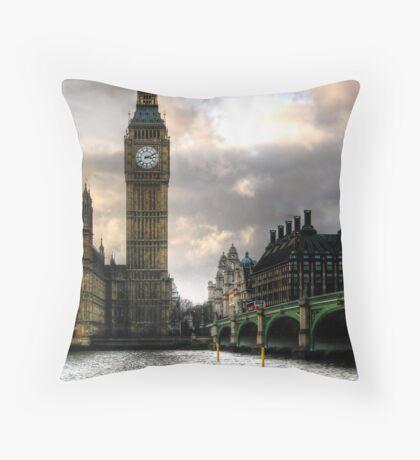 Big Ben & Westminster Bridge Throw Pillow