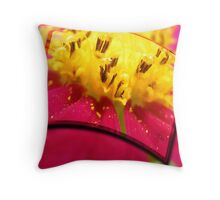 Macro Pollen Throw Pillow