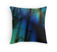 Side of a Blue Being Throw Pillow